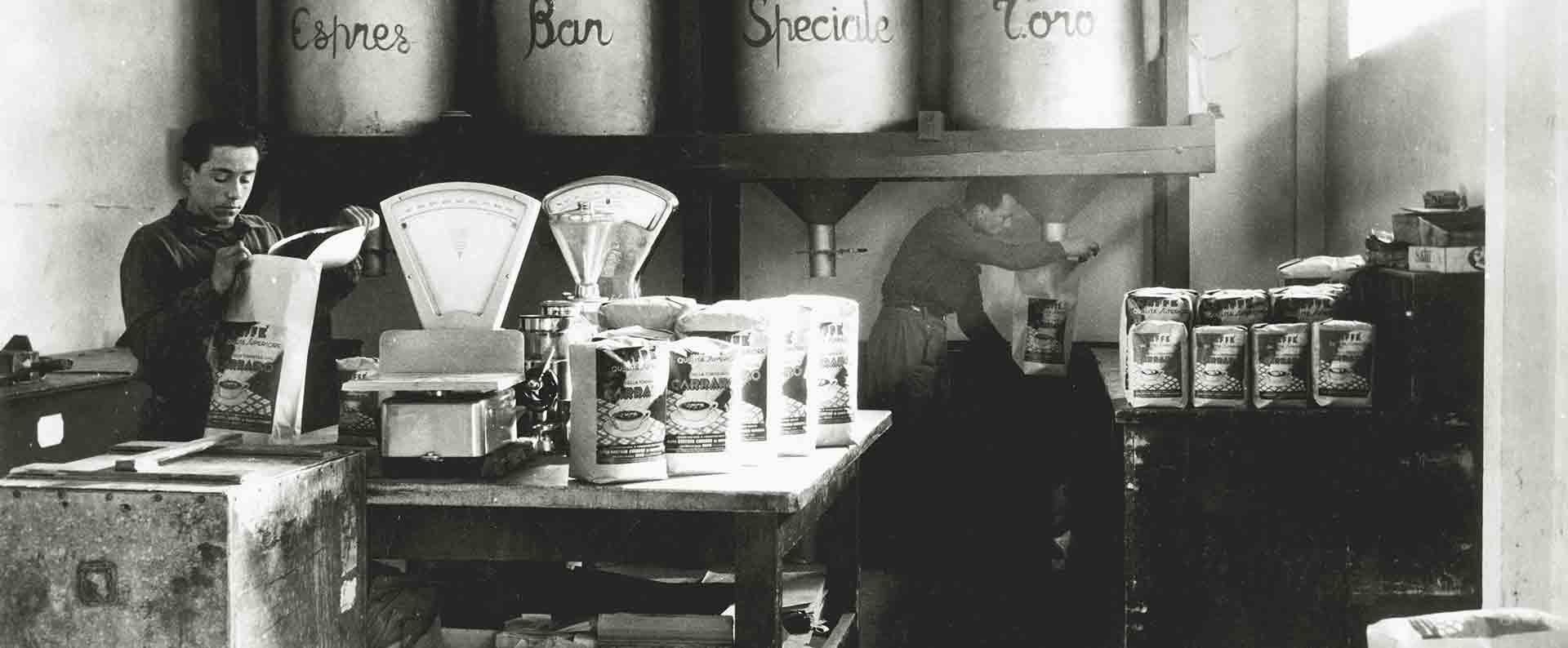Káva Carraro - Balírna